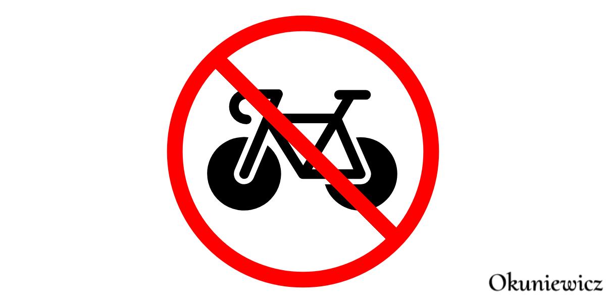zakaz jazdy rowerem